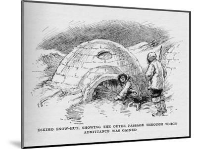 'Eskimo Snow-Hut, Showing the Outer Passage Through Which Admittance was Gained', c1927-Unknown-Mounted Giclee Print