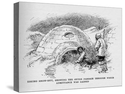 'Eskimo Snow-Hut, Showing the Outer Passage Through Which Admittance was Gained', c1927-Unknown-Stretched Canvas Print