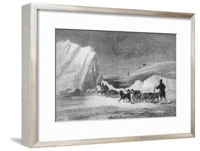 'M'cLintock's Search Party Finding One of Franlin's Cairns at Cape Herschel', c1859-Unknown-Framed Giclee Print