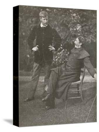 'Whistler and Menpes', c1885, (1904)-Unknown-Stretched Canvas Print