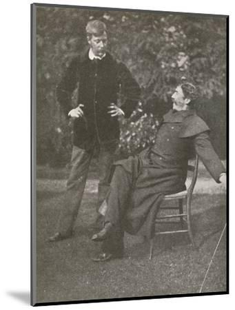 'Whistler and Menpes', c1885, (1904)-Unknown-Mounted Photographic Print