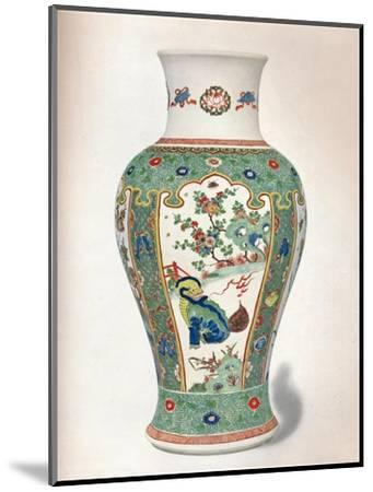Famille Verte Vase, with four upright panels painted with rocks and flowering plants-Unknown-Mounted Giclee Print