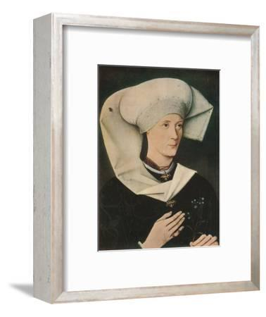'Portrait of a Woman of the Hofer Family', 1470, (1909)-Unknown-Framed Giclee Print