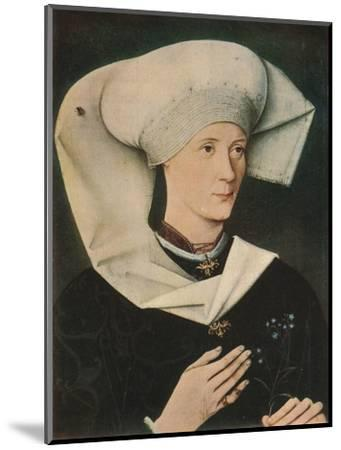 'Portrait of a Woman of the Hofer Family', 1470, (1909)-Unknown-Mounted Giclee Print