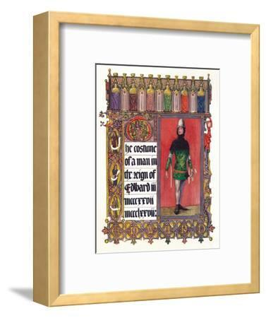 'The Costume of a man in the reign of Edward III', c1353-Unknown-Framed Giclee Print