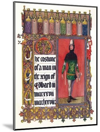 'The Costume of a man in the reign of Edward III', c1353-Unknown-Mounted Giclee Print