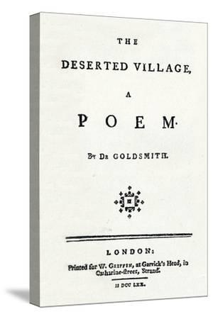 'The Deserted Village, A Poem', c1770-Unknown-Stretched Canvas Print