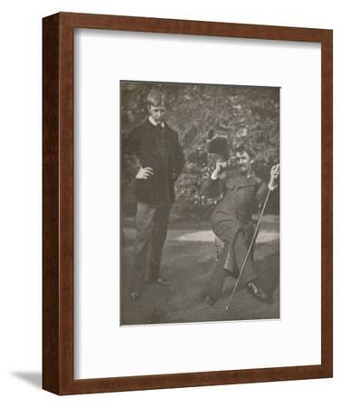 'Whistler and Menpes', c1885, (1904)-Unknown-Framed Photographic Print
