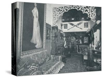 'One of the Reception Rooms at the Sandow Institute',c1898-Unknown-Stretched Canvas Print