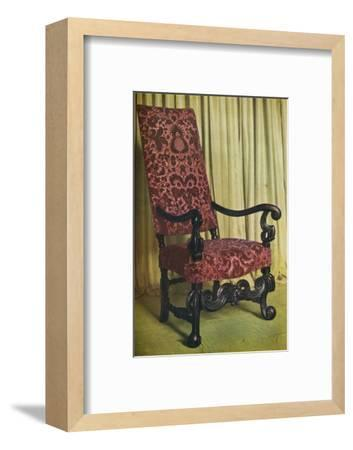 'An Upholstered Arm Chair', c1680-Unknown-Framed Photographic Print