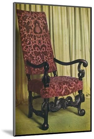 'An Upholstered Arm Chair', c1680-Unknown-Mounted Photographic Print