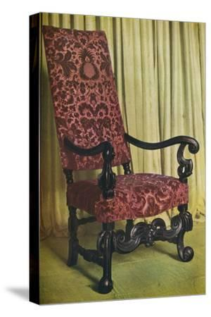 'An Upholstered Arm Chair', c1680-Unknown-Stretched Canvas Print