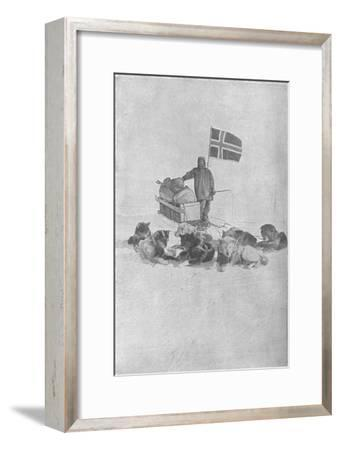'At the South Pole', 1911, (1928)-Unknown-Framed Giclee Print
