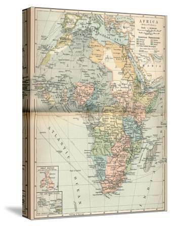 'Africa (Political)', c1902, (1903)-Unknown-Stretched Canvas Print