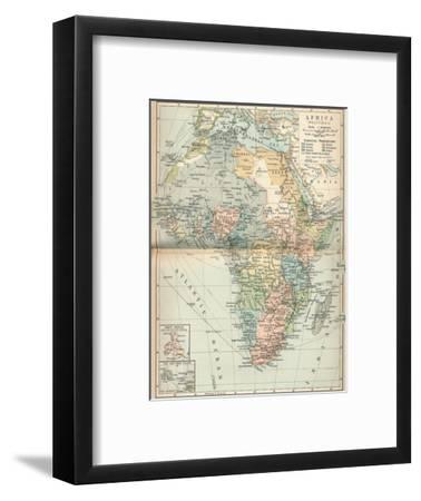'Africa (Political)', c1902, (1903)-Unknown-Framed Giclee Print