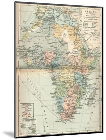 'Africa (Political)', c1902, (1903)-Unknown-Mounted Giclee Print