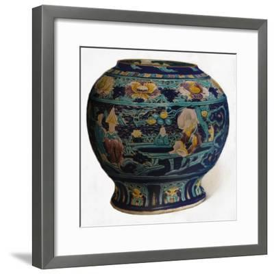 'Fahua jar with openwork design showing the Eight Daoist Immortals', c1550-Unknown-Framed Giclee Print