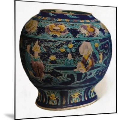'Fahua jar with openwork design showing the Eight Daoist Immortals', c1550-Unknown-Mounted Giclee Print