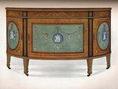 'Commode of Lunette Form', c1775-Unknown-Framed Giclee Print