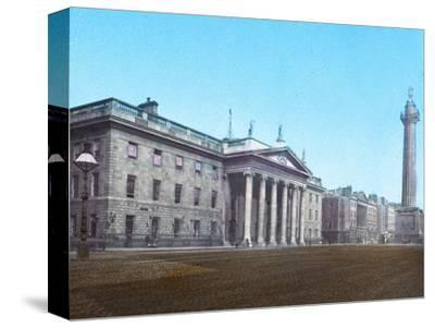 'General Post Office and Nelson's Pillar', c1910-Unknown-Stretched Canvas Print