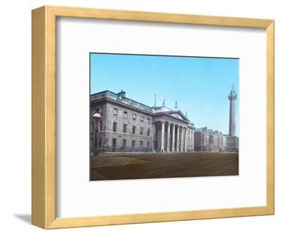 'General Post Office and Nelson's Pillar', c1910-Unknown-Framed Photographic Print