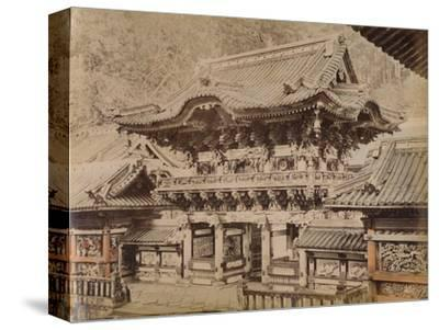 'View of Yomeimon Gate - Shinto Temple Nikko', c1890-1900-Unknown-Stretched Canvas Print