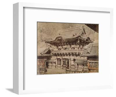 'View of Yomeimon Gate - Shinto Temple Nikko', c1890-1900-Unknown-Framed Photographic Print