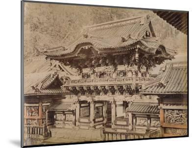 'View of Yomeimon Gate - Shinto Temple Nikko', c1890-1900-Unknown-Mounted Photographic Print