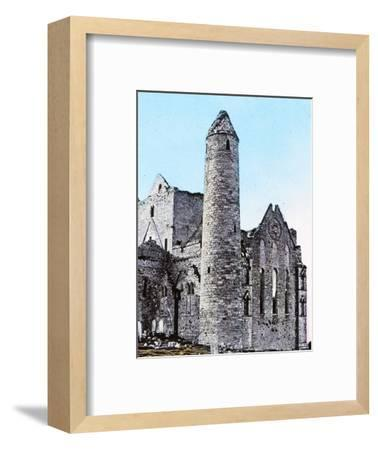 'Ruins on the Rock of Cashel Co., Tipperary', c1910-Unknown-Framed Photographic Print