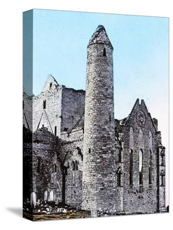 'Ruins on the Rock of Cashel Co., Tipperary', c1910-Unknown-Stretched Canvas Print