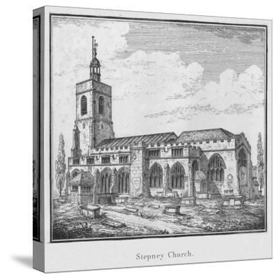 'Stepney Church', c1792-Unknown-Stretched Canvas Print