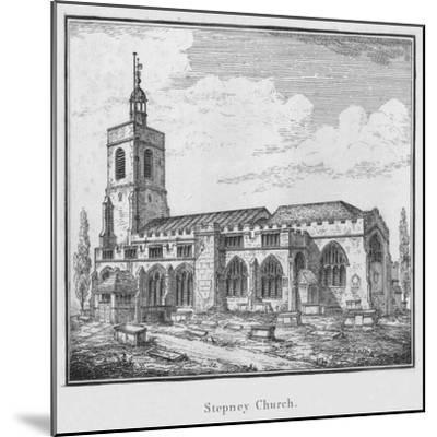 'Stepney Church', c1792-Unknown-Mounted Giclee Print