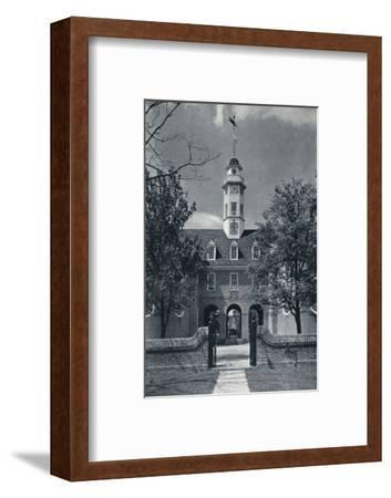 'Detail Showing Cupola of Capitol, Queen Anne's Arms over central Arch', c1938-Unknown-Framed Photographic Print