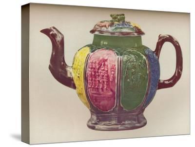'An Octagonal Salt-Glaze Teapot', c1770-Unknown-Stretched Canvas Print
