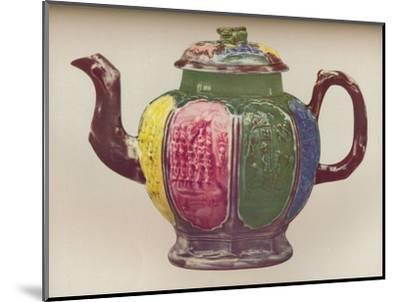'An Octagonal Salt-Glaze Teapot', c1770-Unknown-Mounted Giclee Print
