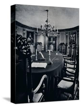 'The Room in the Capitol Where The Executive Council Assembled', c1938-Unknown-Stretched Canvas Print