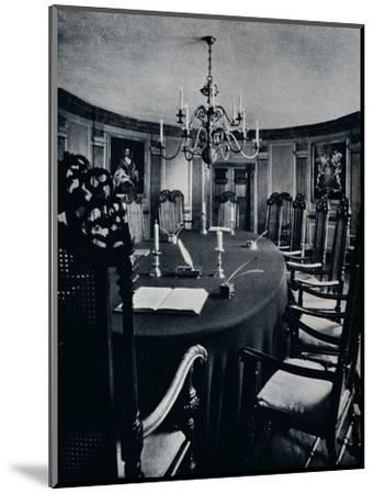 'The Room in the Capitol Where The Executive Council Assembled', c1938-Unknown-Mounted Photographic Print