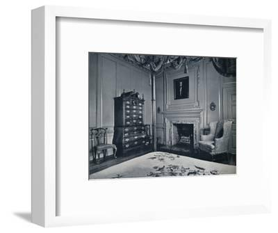 A New England Chest-on-Chest with Bombe Base in one of the bedrooms of the palace of Williamsburg-Unknown-Framed Photographic Print