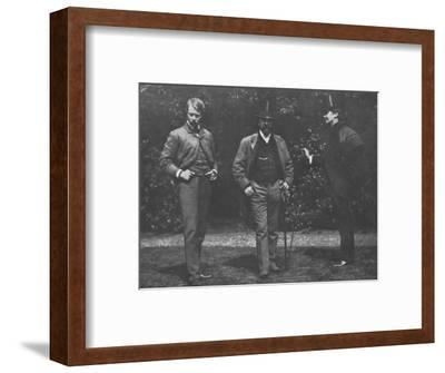 'Whistler, Chase, and Menpes', c1885, (1904)-Unknown-Framed Photographic Print