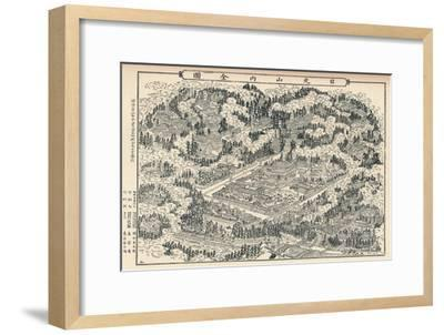 'The Burial-Place and Temple Groves of Nikko in Japan', c1860, (1904)-Unknown-Framed Giclee Print