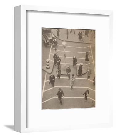 'A Safety Lane opposite Charing Cross Station', c1934, (1935)-Unknown-Framed Photographic Print