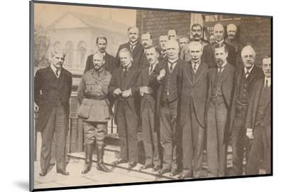 'Mr. Lloyd George, Prime Minister, and some of his colleagues in 1917', c1917-Unknown-Mounted Photographic Print