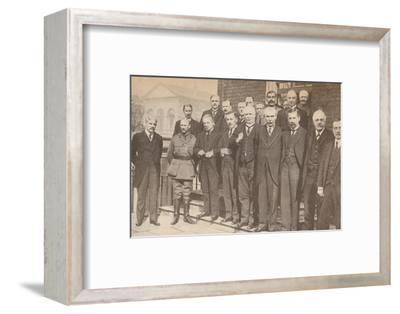 'Mr. Lloyd George, Prime Minister, and some of his colleagues in 1917', c1917-Unknown-Framed Photographic Print