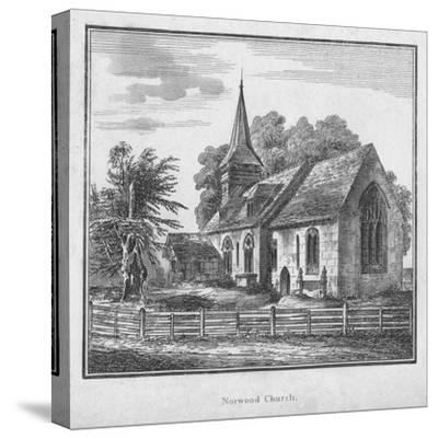 'Norwood Church', c1792-Unknown-Stretched Canvas Print