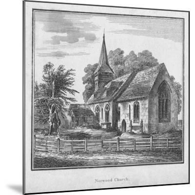 'Norwood Church', c1792-Unknown-Mounted Giclee Print