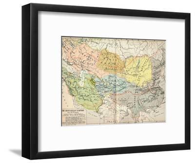 'The Mongolian Empire from 12th-15th Century', c1903, (1904)-Unknown-Framed Giclee Print