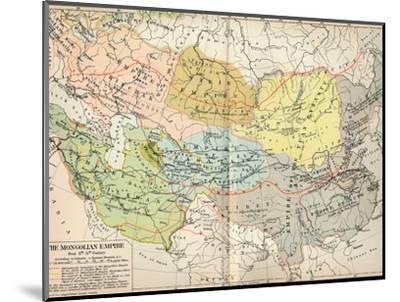 'The Mongolian Empire from 12th-15th Century', c1903, (1904)-Unknown-Mounted Giclee Print
