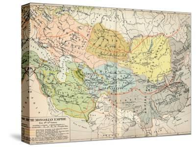 'The Mongolian Empire from 12th-15th Century', c1903, (1904)-Unknown-Stretched Canvas Print