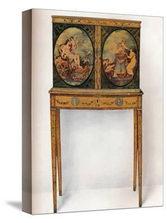 'Small Mahogany Cabinet on Stand', c1680-Unknown-Stretched Canvas Print