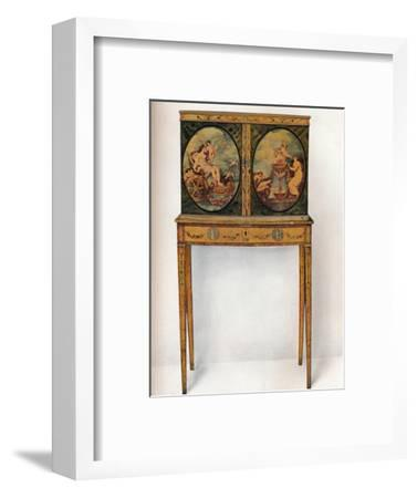 'Small Mahogany Cabinet on Stand', c1680-Unknown-Framed Photographic Print